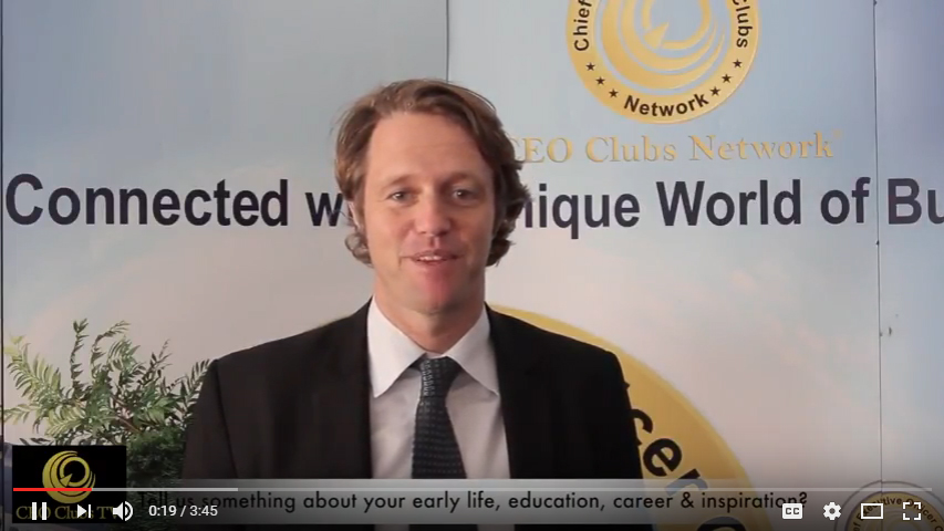 CEO Clubs Network Worldwide with Jason Moore President of Lanjaron Arabia